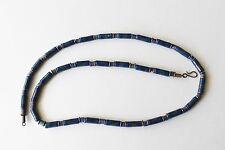 Floral Blue Color Ceramic Bead Necklace