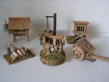 Krippen - Zubehör aus Holz, 6-teilig, Krippe, Weihnachten, Stall, Dekoration