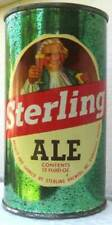 New ListingSterling Ale, Usbc 136-30 Flat Top Can with Colonial Man Evansville Indiana 1953