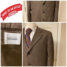 💎Men's Joseph & Feiss💎Brown Sports Coat Houndstooth Blazer Jacket 43 R A105