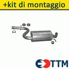 AUDI A3 Sportback 1.4 1.6 116/125HP 2003-2013 Silenziatore Marmitta Centrale+