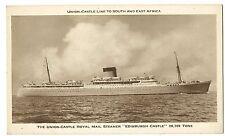 """Union Castle Royal Mail Motor Vessel """"Edinburgh Castle"""" PPC, Unposted Sepia"""