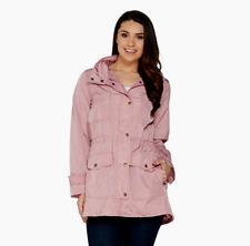 Joan Rivers Water Resistant Anorak w/Hood 2X  Pink rain jacket NWOT Long sleeve