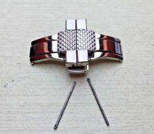 Spange & Verschluss links passt Emporio Armani Uhrenarmband AR5855/Armband/Band