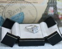 Art Deco Vintage Jewellery Gold Ring White Sapphires Antique Jewelry Size 8