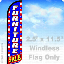 FURNITURE SALE - WINDLESS Swooper Flag Feather Banner Sign 11.5' - Patriotic bz