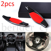 Carbon Fiber Steering Wheel Paddle Shift Shifter Extension For Audi R8 RS3 TT RS