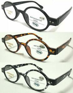S887 Superb Quality Reading Glasses/Spring Hinge/Retro Small Round Oval Designed