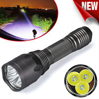Super Bright 8000LM 3x CREE XM-L T6 LED 5-Mode 18650 Flashlight Torch Light US