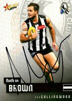 ✺Signed✺ 2014 COLLINGWOOD MAGPIES AFL Card NATHAN BROWN