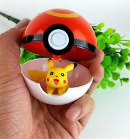 1pcs Pokemon Ball+Pikachu Figures ABS Anime Action Figures PokeBall Kid Toys Hot