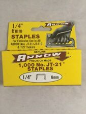 New listing Genuine Arrow 1/4 6Mm 1000 Jt-21 Staples