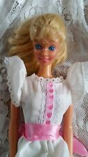 BARBIE DOLL MY FIRST IN WHITE PINK DRESS PRETTY SUPERSTAR FACE RARE VINTAGE