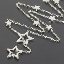 Tiffany & Co. Sterling Silver Star Lariat Pendant Necklace Tiffany Pouch & Box