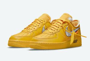 Nike x Off White Air Force 1 '07 ICA Boston University Gold Lemonade OW 2021 9.5