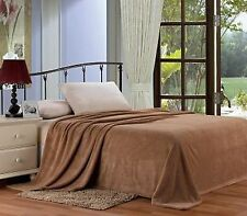 Extra Soft and Cozy Microplush Blanket - Size King - Mocha- NEW - SHIPS FREE