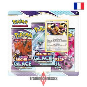 Pokémon - Tri Pack 3 boosters EB06 Épée et Bouclier Règne de Glace: Évoli