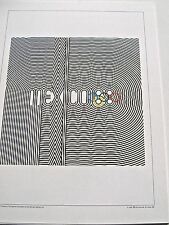 Olympic  Games 1968 Mexico City  Official Poster Reprint  16x12  2 of 2 Posters