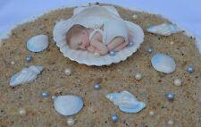 Edible baby boy & edible sea shell Christening Baptism cake topper decoration