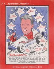 1966 USAC Golden State 100 Indy Race Program SIGNED By5 GREG WELD BOB TATTERSALL