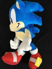 "Sega Sonic The Hedgehog 8"" Plush Blue With Red Shoes Smile Smirk Ready to Go"