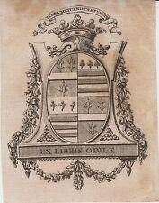 Ex-libris héraldique ODILE de MANNECOURT - Lorraine - XVIIIe siècle - Moyenvic.