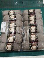 12 x King Cole Catkin 1653 soft brown fashion aran yarn 100g balls