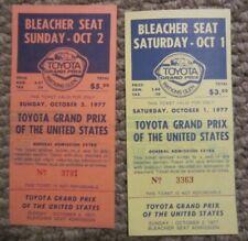 New listing 1977 Watkins Glen lot of 2 tickets United States Grand Prix Formula 1 F1