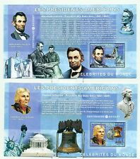 PRESIDENTS AMERICAINS - U.S.A. PRESIDENTS CONGO 2006 blocks perforated