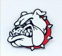 British Bulldog Head Embroidered Iron Sew On Patch j633