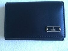 GUCCI TAGGY BLACK LEATHER CARD CASE/WALLET NWT & NWB Retail $285