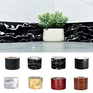 Marble Self-Adhesive Waist Line Wall Sticker PVC Wallpaper Border Home Decor