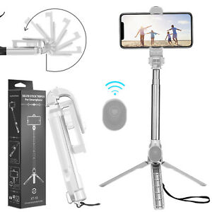 For Samsung Galaxy S21/Note 20 Ultra/S20+ Selfie Stick Extendable Remote Tripod