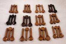 36 Mixed High Quality Viola Tuning Pegs, Boxwood, Rosewood, Ebony