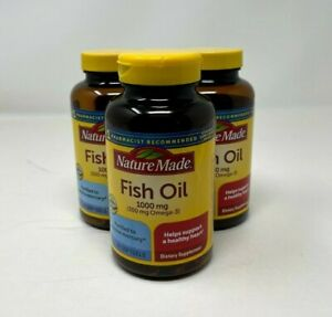 Nature Made Fish Oil Omega-3 Softgels -1000 Mg | 90 Count | Pack of 3