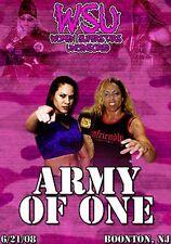 WSU Womens Wrestling - Army Of One DVD Dawn Marie ANgelina Love ECW WWE TNA