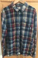 Vans Off the Wall Mens Long Sleeve Flannel Shirt skate plaid Size XL slim fit