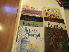 Lot of 11 Artist's Journal Jo Sonja Jansen tole painting folk art