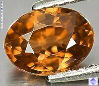 VVS !! 1.11ct GENUINE CAMBODIA ZIRCON - BRIGHT AMBER GOLD WHISKY - luster AAA++