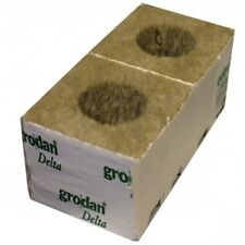 12 X GRODAN WRAPPED ROCKWOOL CUBE 75MM X 75MM WITH HOLE - HYDROPONICS