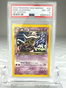 PSA 8 Pokemon Dark Slowking Non Holo 1st Edition Neo Destiny