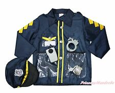 5PC Halloween Party Uniform Occupation Police Cop Jacket Costume Kid 3-7Year C50