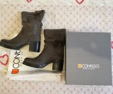 Stivali CONTIGO -35% Vera pelle Nabuk n.36 Made Italy Boots Tronchetto Leather