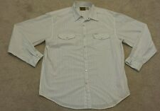 BUCKLE BKE 67 WHITE X-LARGE striped long sleeve western shirt