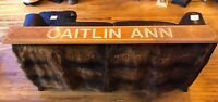 Vintage STATEN ISLAND TUG BOAT PLAQUE SIGN CAITLIN ANN WOODEN Nautic BeachHouse