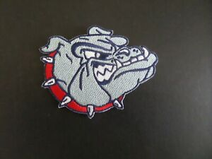 GONZAGA BLUE & SILVER EMBROIDERED NCAA IRON ON 2-3/8 X 3 PATCH