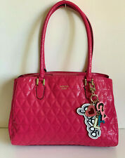 NEW! GUESS TABBI GIRLFRIEND PASSION PINK SATCHEL BAG PURSE $118 SALE