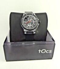 Tocs 40006L Black Rubber Strap & Dial Acrylic Case Dress Women's Watch