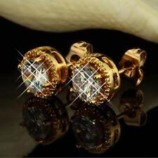 Ohrringe Hänger Zirkonia weiß 750er Gold 18K vergoldet gelbgold O2808