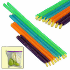 Fresh Food Snack Clip 4 Sizes 8pcs Seal Stick Storage Chip Bag Grip Coffee U87
